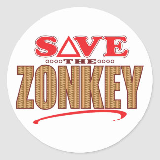 Zonkey Save Round Sticker