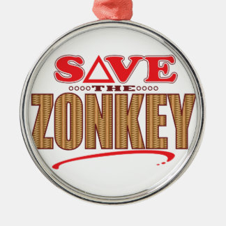 Zonkey Save Silver-Colored Round Decoration