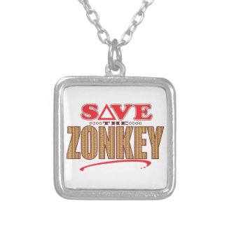 Zonkey Save Square Pendant Necklace