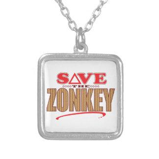 Zonkey Save Square Pendant Necklace