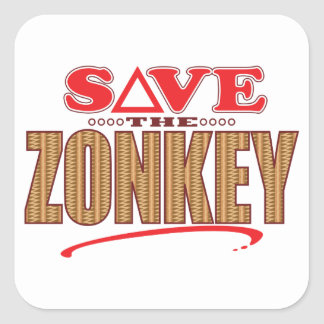 Zonkey Save Square Sticker