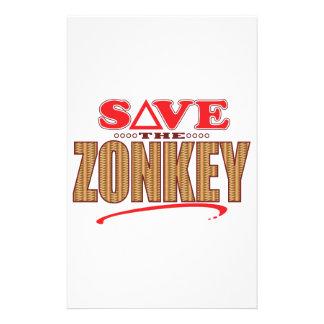Zonkey Save Stationery Design