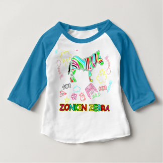 Zonkin Zebra Go Wild Baby T-Shirt