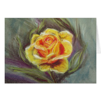 Zonta Pastel Yellow Rose note card
