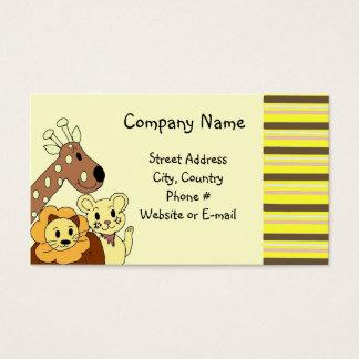 Zoo Animal Business Card