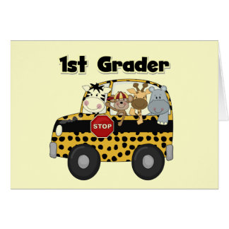 Zoo Animals 1st Grade Tshirts and Gifts Card