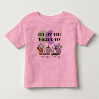 Zoo  Animals 4th Birthday Tshirts and Gifts