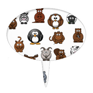 Zoo Animals Cake Toppers
