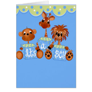 Zoo Animals It's a Boy Cards