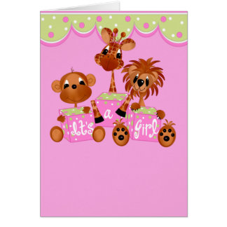 Zoo Animals It's a Girl Cards