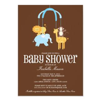 Zoo Animals Mobile Baby Shower Invite