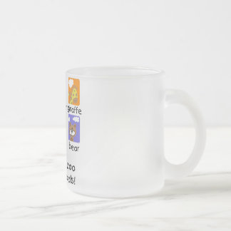 Zoo Animals Tshirts and Gifts Frosted Glass Coffee Mug