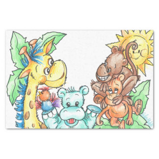 Zoo Babies Tissue Paper