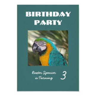 """Zoo Birthday Party Invitation 5"""" X 7"""" Invitation Card"""