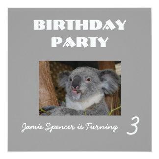 "Zoo Birthday Party Invitation 5.25"" Square Invitation Card"