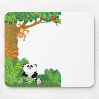 Zoo Border Mouse Pad
