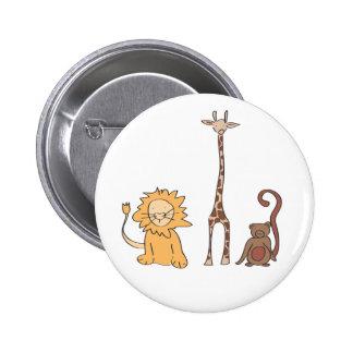Zoo Buddies Button