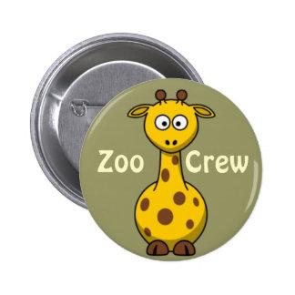 Zoo Crew Giraffe 6 Cm Round Badge