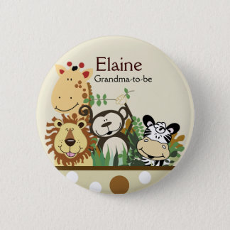 ZOO CREW JUNGLE NAME TAG Personalized Button
