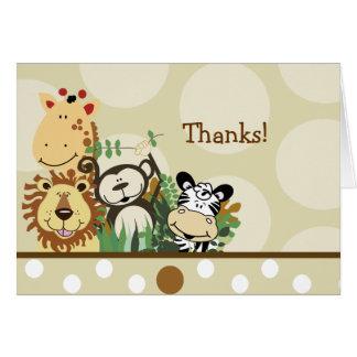 ZOO CREW Jungle Safari Folded thank you note Card