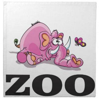 zoo elephant gag napkin