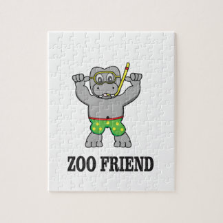 zoo friend hippo jigsaw puzzle