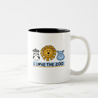 Zoo Friends T-shirts and Gifts Two-Tone Coffee Mug