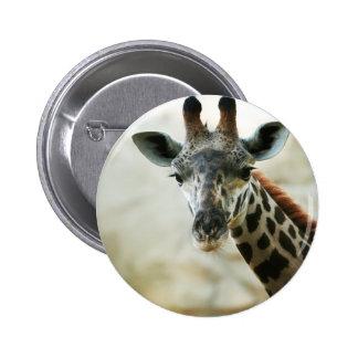 Zoo Giraffe 6 Cm Round Badge