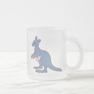 Zoo KANGAROO Frosted Glass Mug