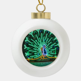 Zoo Lights Peacock Ornament