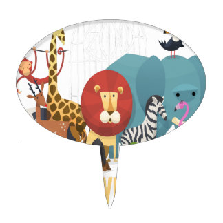 Zoo Lovers Day Cake Toppers