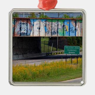 Zoo Mural Metal Ornament