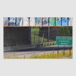 Zoo Mural Rectangular Sticker