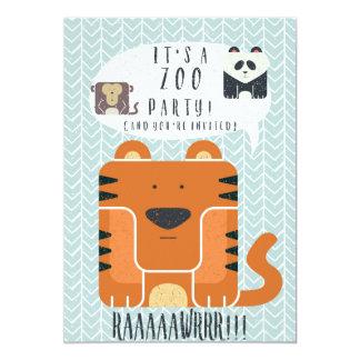 Zoo Party themed Birthday Invitation! 13 Cm X 18 Cm Invitation Card