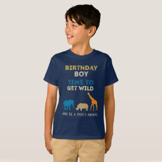 Zoo Safari Birthday Party Boy T-Shirt