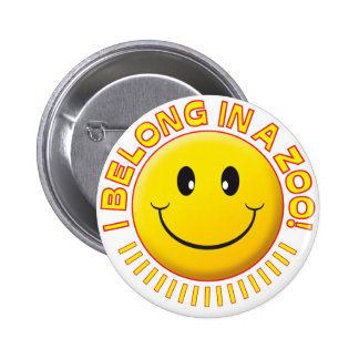 Zoo Smiley 6 Cm Round Badge