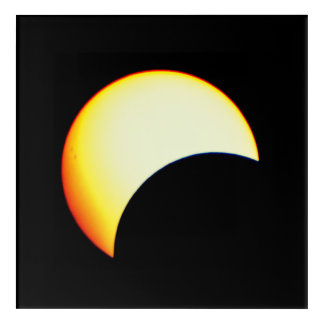 Zoom On A Solar Eclipse Acrylic Print