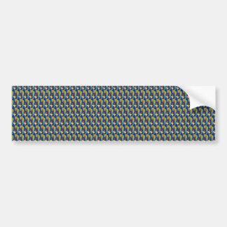 ZOOM view Elegant TEXTURE DIY Template add TXT IMG Bumper Sticker