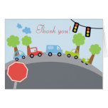 Zoom Zoom Cars Folded Thank you notes