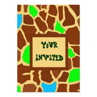 ZooMazing 13 Cm X 18 Cm Invitation Card