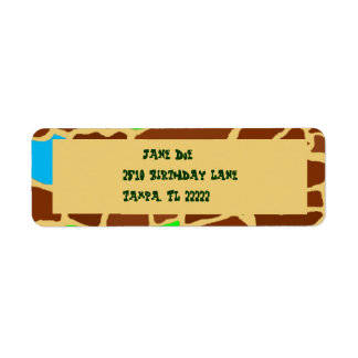 ZooMazing Return Address Label