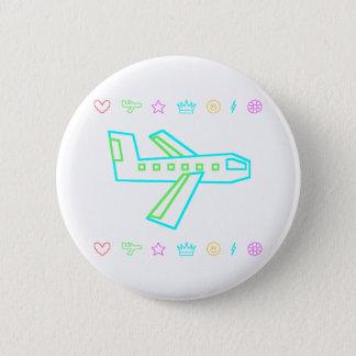 Zooper Plane 6 Cm Round Badge