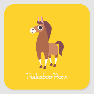 Zora the Horse Square Sticker