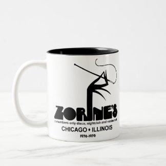 Zorine's Restaurant Disco Nightclub, Chicago, IL Two-Tone Coffee Mug