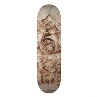 Zorn (Anger) by Pieter Bruegel the Elder 20.6 Cm Skateboard Deck