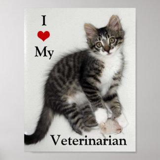 Zorro Kitten I Love My Veterinarian Poster