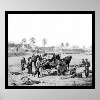 Zouave Ambulance Crew 1863 Poster