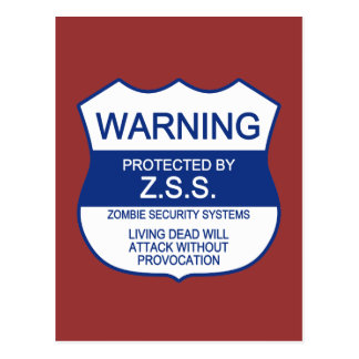 ZSS (Zombie Security Systems) Postcard