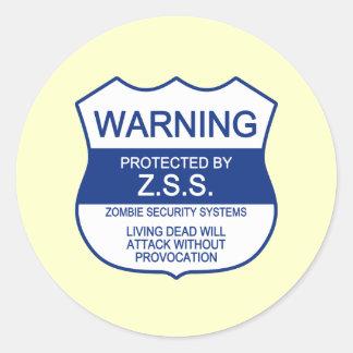 ZSS (Zombie Security Systems) Round Sticker