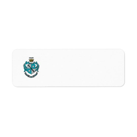 ZTA Crest Colour Return Address Label